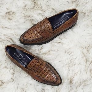 Donald J. Pliner Danisa Croc embossed loafers 6.5
